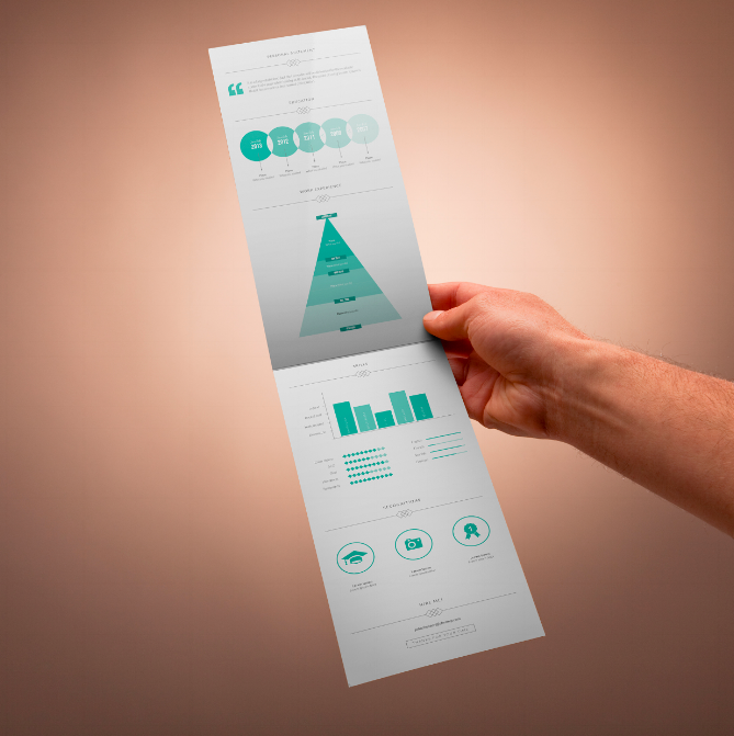 Resume template formatted like an infographic